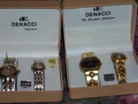 Denacci watch sets new mens and womens in boxes $ 25.00