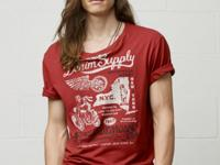 Crafted from washed cotton jersey, this soft tee shirt