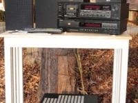 1999 stereo with receiver, tape deck, 4 speakers and CD