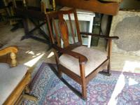 Nice Depression period Rocker - All Wood - Back