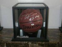 Autographed basketball by Chicago Bulls player and the