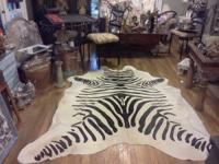 Brand New, never used National Brand Togo Cowhide Zebra