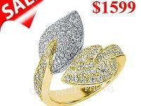 WE OFFER YOU DESIGNER DIAMOND RING IN. 14KT GOLD WITH