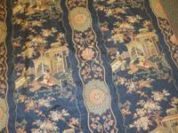 Beautiful designer upholstery fabric, rayon and cotton.