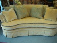 Designer Sofa By Saxon Clark - Lovely Soft Yellow High
