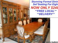 Designer Solid Wood Dining Room Set The Wait Is