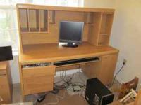 Full size computer desk, in good shape....moving MUST
