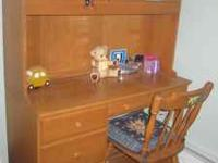 Student desk in excellent condition. All Hard Wood -