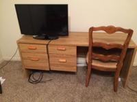 Type:Office Four drawer desk and chair Price is