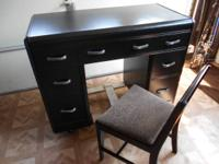 I HAVE A BLACK DESK AND CHAIR SET FOR SALE FOR $125.00.