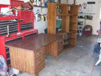 GOOD USED DESK WITH LOCKING BIG DRAWER,40.00 DOLLARS