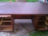 Large desk looking to sell asap $75 or best offer just