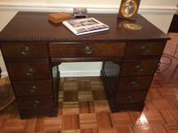 75 plus year old desk, good sturdy condition. Has