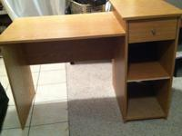 For Sale A light oak colored desk, great for a student