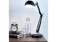 NEW FORSA RETRO TECH WORK DESK LAMP. ADJUSTABLE/SWIVEL.