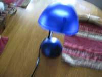 very nice blue desk light call or text: . $6 obo
