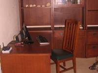 """Desk (32""""Dx60""""Lx29.5""""H), chair (chair teal cushion"""