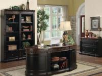 This elegant shaped executive office/home desk boast a