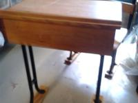 Vintage (has ink well) child's school desk; flip-top,