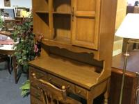 Desk with bookcase topper. We were visiting remov the