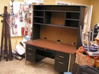 desk with hutch $100.00 can be seen 9am to 5 pm Mon