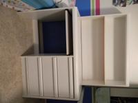 White desk with shelves. $50.00  // //]]> Location: