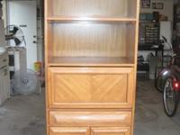 IN EXCELLENT CONDITION SECRETARY DESK WALL UNIT WITH