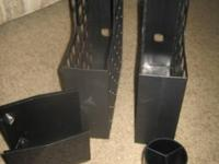 Nice for Desk.  $4.00 2 Black Magazine/Letter Holders 1