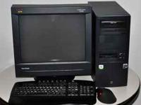 For sale are a Desktop computer and Monitor with