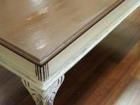 Great detailing on this Solid Wood Coffee Table, simply