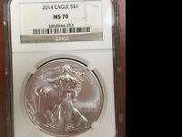 Coin: American Eagle Grade: MS 70 Precious Metal