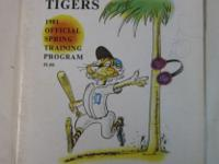 Detroit Tigers 1981 Florida Spring training program