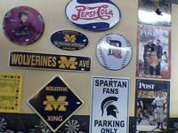 New! Detroit Tigers, Spartan, Red Wings, U of M, Pepsi,