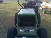 !8ph diesel with finishing mower, ready to mow. 623