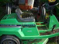 Deutz Alice with 38in mowing deck runs ok needs battery