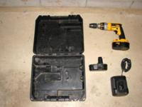 I have a Dewalt 18 volt hammerdrill for sale. Consists
