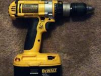 Up for sale is a Dwalt drill, comes with battery but no