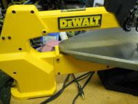 "DeWalt 20"" scroll heavy duty variable speed. On a"