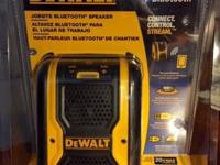 This is a Dewalt Bluetooth Speaker. Brand new; still in