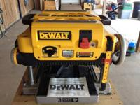 Slightly used Dewalt Planer with extra set of blades.