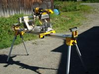 DeWalt DW708 sliding compound miter saw, 4000 rpm, with