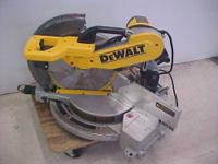 "UP FOR SALE IS A USED DEWALT DW716 12"" DOUBLE BEVEL"