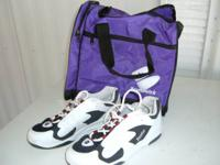 Offering a pair of Dexter men's 81/2 bowling shoes,.