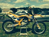 2014 KTM 450SXf. It was set up to his specifications.