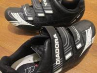 Diadora road shoes-  size 45-  used once for 10 mile