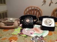 OLD FASHIONED DIAL PHONES exc. condition. 2 are desk