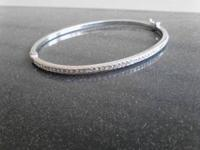 Sterling silver diamond bracelet for sale. Originally