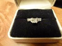 Beautiful white gold diamond engagement ring. Size 5.