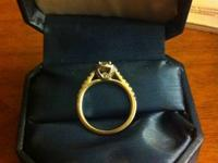 Beautiful Princess Cut Engagement Ring purchased for