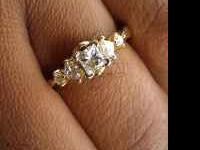14k gold real diamond engagement ring. Have paperwork